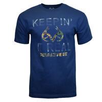 Mens Tee T Shirt S M L 2 XL Hunting Camping Camo Deer Logo Graphic 100% COTTON