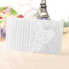 10Pcs Wedding Card Party Invitation Cards Envelope Envelope Carved Model