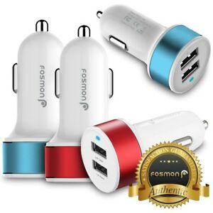 3.4A 17W 2 Port USB Fast Quick Car Charger for iPhone XS XR Samsung Galaxy Note