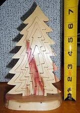 STANDING UPRIGHT 3D WOODEN TREE CHRISTMAS PUZZLE WITH STAND