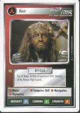 STAR TREK CCG WHITE BORDER PREMIERE 1995 BETA RARE CARD KURN