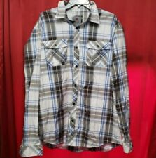 Pj Mark Long Sleeves Button Up Shirt Plaid Checkered Size 2XL