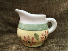 Caleca Enna Creamer Hand Painted Italy Excellent Condition Yellow Green Red