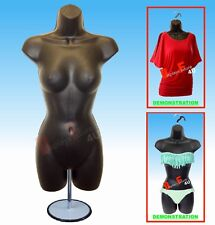 2 Female Mannequin Form & 2 Stand - Trade Show Display Women Dress Shirt- Black