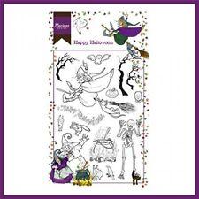 Marianne Design Stempel Clear Stamps - Happy Halloween Hexe Skelett