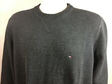 Tommy Hilfiger Mens Grey Crewneck Pull Over Heavy Cotton Sweater Size Large L