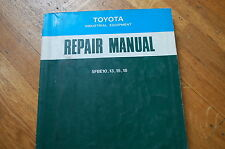 TOYOTA 5fbe 10 13 15 18 Forklift Service Repair Shop Manual book lift truck 1993
