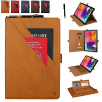 Folio Case Leather Card Stand Cover for Samsung Galaxy Tab 7.0/8.0/10.1/10.5inch