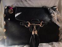 Stunning Designer Melrose Black Shoulder Bag Large Brand New