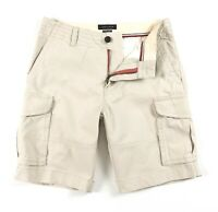 """TOMMY HILFIGER Cargo Shorts Men's Classic Tan Brushed Twill 10"""" Shorts 78E1745"""