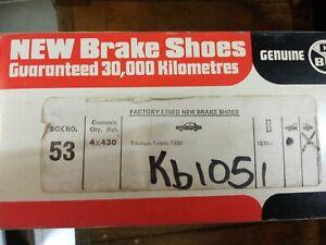 Triumph 1300 Toledo Dolomite REAR Brake Shoes CBS 53. 1970 -