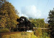 Postkarte: Güterzug mit Dampflok 50 3516 auf der Muldentalbahn, 23.10.1983