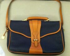 Genuine Dooney & Bourke vintage all weather leather briefcase messenger bag NEW!