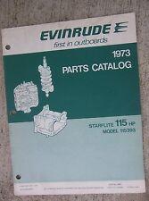 1973 Evinrude Starflite 115 HP Outboard Motor Parts Catalog Model 115393 Boat  L