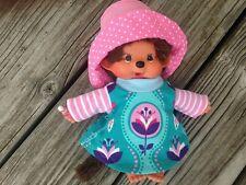 KLEID + Hut für MONCHICHI Gr. 20 Monchhichi Bekleidung Kleidung Kleidchen türkis