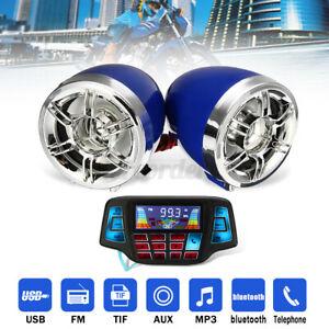 Motorcycle bluetooth Handlebar Audio System USB FM Radio MP3 Stereo Speaker UK