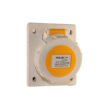 16amp 3pin 110v IP67 Angled Panel Socket