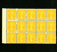 US Stamps # 642 XF/S Mint block of 15 OG NH