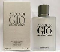 Giorgio Armani Acqua Di Gio 3.4oz / 100ml Men's Eau de Toilette New