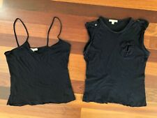 dc3c65e20f4f92 AUTHENTIC BURBERRY SET SLEEVELESS TOP TEE   TANK SET SIZE M NAVY 100%COTTON