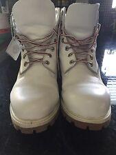 """Custom Timberland 6"""" Premium Winter Boots White Waterproof"""