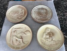 Frankoma Teen-Agers Of The Bible Plates -Daniel-Ruth-Joseph-Mary 7th 8th 9th10th
