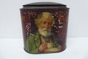 ANTIQUE TEA TIN CADDY FOR AULD LANG SYNE ADVERTISING