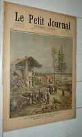 PETIT JOURNAL 12-05 1895 CATASTROPHE DE BOUZEY VOSGES RESERVOIR VALLEE AVIERE