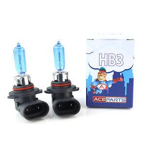 2x HB3 [9005] 65w Super White Xenon Headlight Bulbs 12v