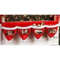 "39"" Personalized Plush Mantel Christmas Photo Stockings"