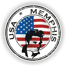 Seal Sticker of USA Memphis Elvis Presley Stamp Bumper Roundel Laptop Car Truck