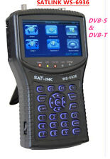 SATLINK DVB-S&DVB-T COMBO Satellite Finder WS-6936 Spectrum Analyzer 4.3'' LCD