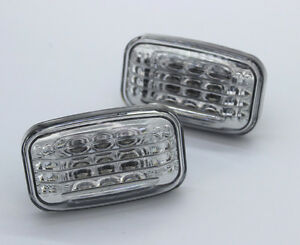 2 side marker turn signal Led lights amber clear for Toyota 84-2007 Land Cruiser