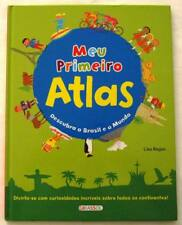 NEW $30 Retail RARE Import Meu Primeiro Atlas (Brazilian Portuguese Text)