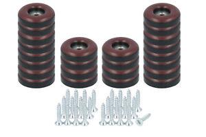 24 x Teflongleiter zum Schrauben 22 mm Stuhlgleiter braun PTFE Möbelgleiter