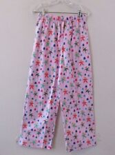 NWT Munki Munki GINGERBREAD MEN Pink Flannel Pajama Lounge PANTS ONLY Sz Small