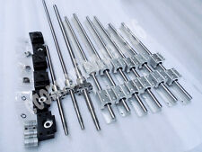 3 X (SBR16--300 /500/800 MM Rail Support)& 3 Mechined Ballscrew with nut&1couper