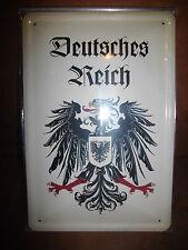 Blechschild Deutsches Reich Kaiserreich ca. 20x 30 cm gross gewölbt