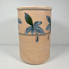 Vintage Studio Art Pottery Claysmith Signed Wine Cooler Utensil Holder Vase