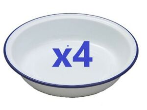 4 x Falcon Enamel 14cm Round Pie Dish  [0619H]
