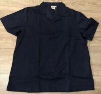 Mens hospital navy blue tunic top Nurse Carer Dentist Work Healthcare uniform