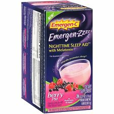 Alacer Emergen-C Nighttime Berry PM Sleep Aid, 24 Count
