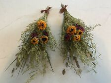 Lot of 2 Dried Sunflower Bunches for Peg Hook Shelf Vase Bunch Sunflowers *