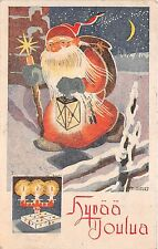 B84644  hyvaa joulua finland candle gift  santa claus papa noel