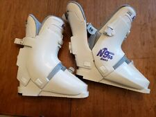 NORDICA  N997 DOWNHILL WHITE SKI BOOTS  made in Italy