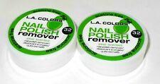 2 L. A. Colors Acetone-Free Quitaesmalte de Uñas Almohadillas - Pera Aroma Nuevo