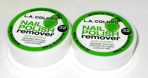 2 L.A. COLORS Acetone-free Nail Polish Remover Pads - PEAR SCENTED New/Sealed