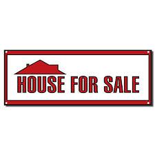 House For Sale Real Estate Vinyl Banner Sign 2 ft x 4 ft w/Grommets