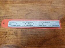 """NEW Mitutoyo 182-103, Steel Ruler, 6"""" Inch,1/32"""", 1/64"""", 1/10"""", 1/100"""", 3/64"""""""