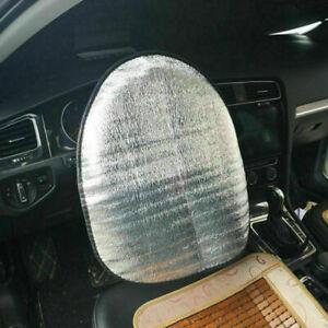 Doppelte dickere Auto Lenkrad Sonnenblende Abdeckung Sonnenschutz Aluminiumfolie